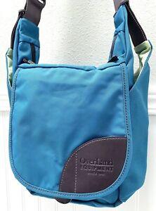 Overland Equipment Crossbody Strap Messenger Bag Front & Side Pockets Teal Blue