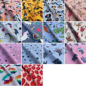 John Louden Cotton Elastane Stretch Printed Jersey Premium Fabric | Per Half M