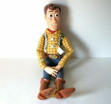 "Toy Story Woody Talking Doll Pull String 16"" Vintage Disney Store Pixar No Hat"