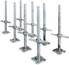 "24"" Scaffolding Leveling Jack Steel Plate Base Adjustable Screw 8 Pack MetalTech"