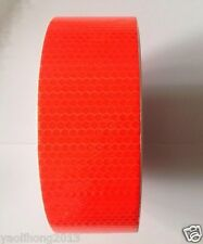 "2""X10' 3M Orange red Reflective Safety Warning Conspicuity Tape Film Stickers"