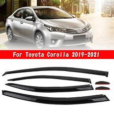 Car Window Sun Rain Guard Visors Kit 6PCS For Toyota Corolla 2019-2021 U8