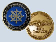 Submarine Rate QM Quartermaster Insignia Commemorative Coin