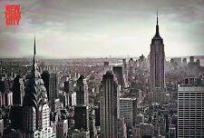 Empire State & Chrysler Building, Manhattan, New York City, NY Aerial - Postcard