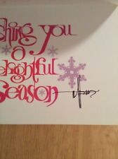 SIGNED - Syd Mead 2006 Santa Clausette On Christmas Morning Card  Pic