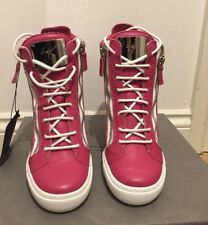 Giuseppe Zanotti Double Zip Lorenz Pink Wedge Trainers UK 7/EU 40 £695