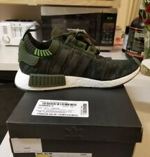 5d8910a9d6aff New sz 11 Mens Adidas NMD R1 Primeknit Running Training Casual Shoes Olive  Green