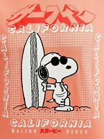 Mens SNOOPY PEANUTS California Malibu Beach Surf Long Sleeve T shirt Size XXL