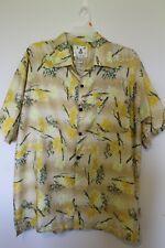 Men's Joe Marlin Hawaiian Shirt Yellow Floral Sz 2X Preowned