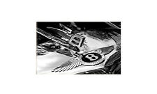 Bentley badge and hood ornament real photo A4 Metal Sign Aluminium