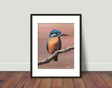 More details for kingfisher bird limited edition print 10x8 with mount 14x11 sarah featherstone