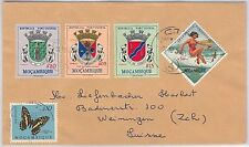 BUTTERFLIES / Heraldry - Mozambique -  POSTAL HISTORY: COVER to SWITZERLAND 1963