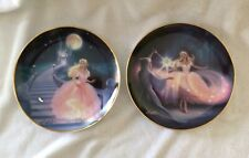 Franklin Mint Fairy Godmother'S Magic & Magic Of Cinderella Plate - Set Of Two