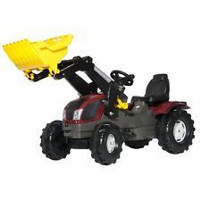 Rolly Toys Valtra T163 Traktor mit Frontlader Trettraktor rot