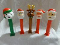Pez Lot 5 Christmas Santa Issue C, E, & F ~ Polar Bear C ~ Reindeer A