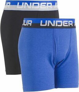 Under Armour Boys' Cotton Stretch Boxer Jock, Ultra Blue/Black Extra Small