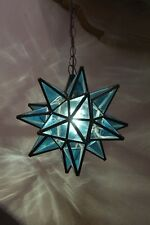 """Moravian 11.5""""  blue topaz star  WITH canopy"""