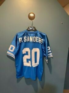 Authentic Barry Sanders Mitchell and Ness Detroit Lions Home Away Jersey - 48