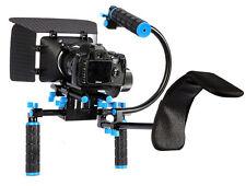 Dslr Shoulder Mount Rig Support Follow Focus , Matte Box,top Handle Kit