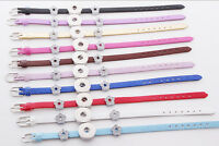 New Leather Bracelets Drill fit For Noosa 18MM Snaps Chunk Charm Button