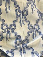 Blue 'Charlotte' Ribbon Pattern Curtain Piece136 x 102cm- Sold as Seen