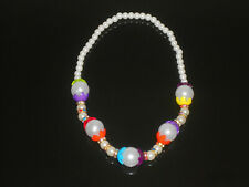 Girls Kids Multicolour Necklace Colorful bead Jewellary Wedding Party Strechable