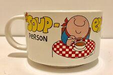 Vintage ZIGGY SOUP-ER PERSON Stoneware Mug 1980 Tom Wilson Soup Coffee Mug