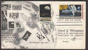 1969 Moon Landing Sc C76-274 Apollo 11, FDC 1st cachet Frank J. Merryman (A