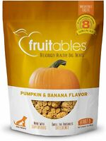 Fruitables Dog Treats Training Low Calorie Crunchy Pumpkin & Banana 7 Ounce