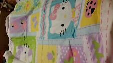 Hello Kitty cotton 2 layer flannel embriodered personalized blanket 45x36