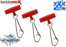 FISHING EASY SLIDER RIGS QTY: 50 SINKER SLIDER SINKER CLIP - SMALL RED TP300R
