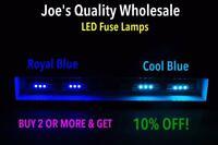 (10)COOL BLUE or ROYAL BLUE LED FUSE 8V LAMPS/DIAL-METERS- for Marantz RECEIVER