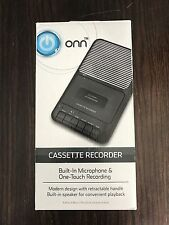 Onn Cassette Player / Recorder Built In & Auxiliary Microphones One Touch Record