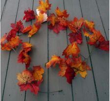Artificial Autumn 6ft Maple Oak Leaf Garland