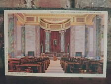 Vintage Linen Postcard Senate Chamber State Capitol Baton Rouge LA