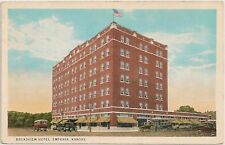 Broadview Hotel in Emporia KS Postcard