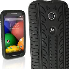 Noir Pneu Étui Housse Silicone pour Motorola Moto E XT1021 Gel Coque Case Cover
