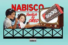 Nabisco Oreo Animated Billboard Sign #44-1752 N or Ho Scale Miller Engineering