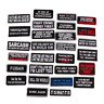 Words Slogan Badge Embroidered Iron on Patches Fabric Sticker Clothes Bag