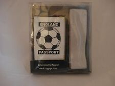 BNIB Genuine Leather England Passport Cover & Luggage Strap #Father's Day