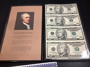 2005 $10 x4 Star Note Uncut Sheet Item Blank Angus Certified