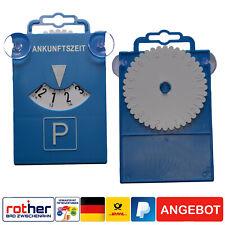 Parkscheibe, Parkuhr mit Saugnapf, Kunststoff, blau