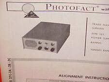 1963 RADIOCOM CB RADIO SERVICE SHOP MANUAL MODELS 27C-2A & 27C-2B & 27C-2C