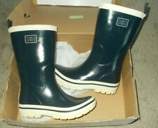 Helly Hansen Childs Rubber Gum Boots Size 6 Navy Blue & White New In Box NOS