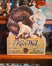 Vintage KEN-WEL BASEBALL GLOVES LOU GEHRIG CARBOARD WINDOW SIGN CARD
