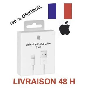 Cable Chargeur USB Original APPLE Lightning pour IPHONE 6 7 8 X 11 PRO IPAD NEUF