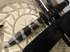 Mtech USMC Licensed Dual Edge Urban Combat Survival Dagger Knife w Kit Sheath