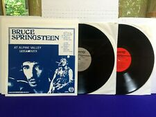 Bruce Springsteen AT ALPINE VALLEY PART ONE 1985 Poverty Records 2 lp NM/NM/NM