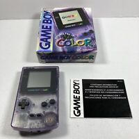 Atomic Purple Nintendo Game Boy Color System Console with Box Tested working