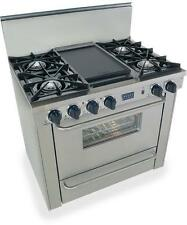 FiveStar 36in Pro Gas Range with 4 Burners and Griddle Ttn310-7Bw